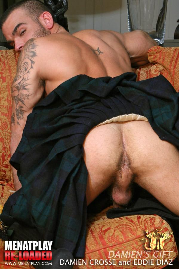 Spunk on topless girl