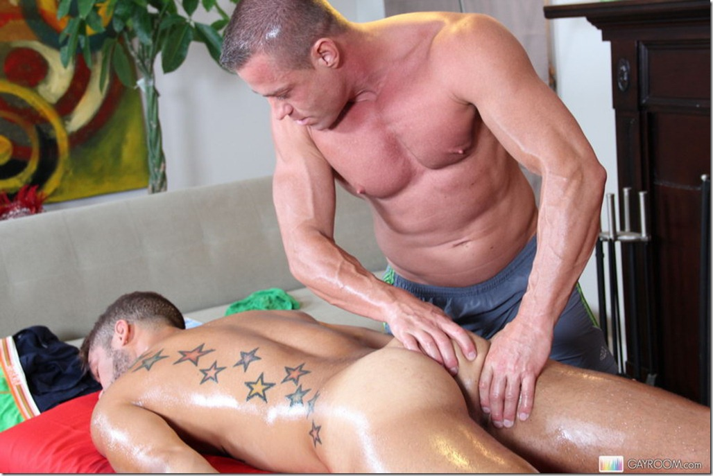 sex on gay the massage massage naked body