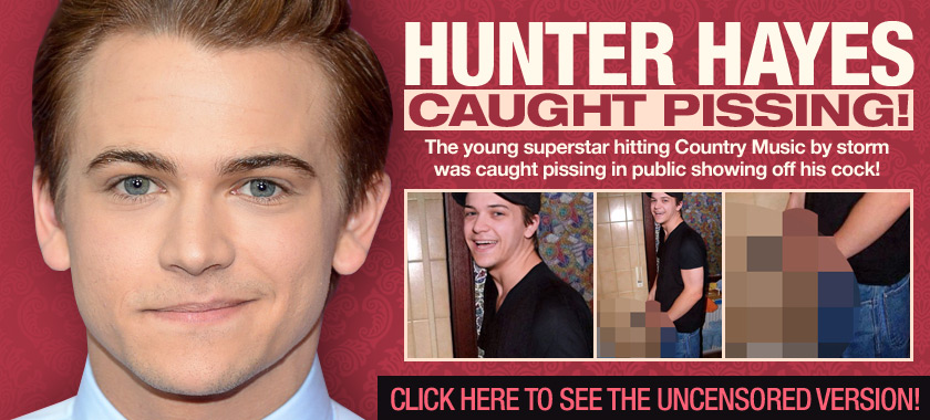 hunter hayes caught pissing
